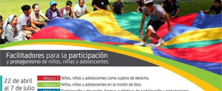 Curso virtual «Facilitadores para la participación y protagonismo de niños, niñas y adolescentes»